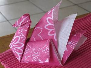 Pliage De Serviette En Papier Facile : pliage de serviette cygne le blog de la famille storcka ~ Melissatoandfro.com Idées de Décoration
