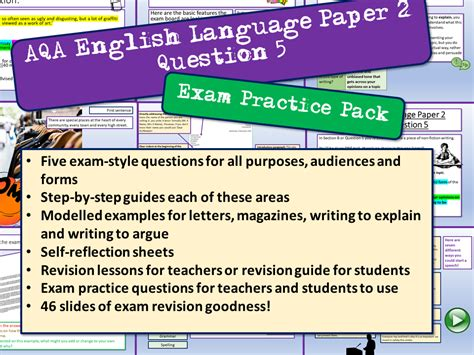 aqa english language paper  question  ec resources