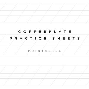 free downloadable practice sheets for copperplate