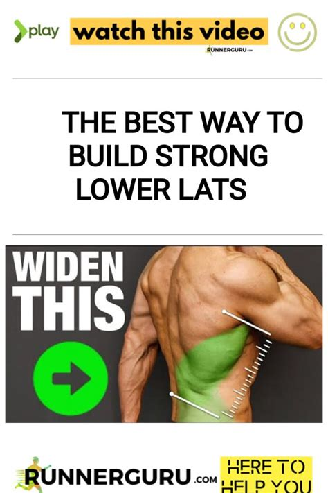 The Best Way to Build Strong Lower Lats | RunnerGuru