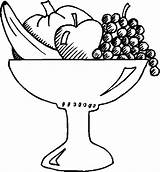 Fruit Salad Bowl Coloring Pages Basket Drawing Fruits Printable Print Getdrawings Drawings Getcolorings Getcoloringpages Paintingvalley sketch template