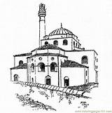 Tower Coloring Buildings Moschee Coloringpages101 Ausmalen Printable Pdf Islam Zum sketch template