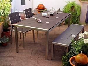 Alu Gartenmöbel Set : sitzgruppe alu gartenm bel set tisch bank 2 sessel anthrazit sale online bestellen ~ Markanthonyermac.com Haus und Dekorationen