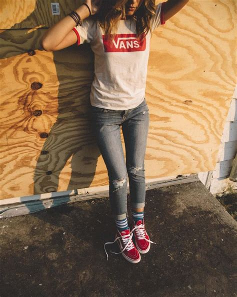17 Best ideas about Vans Outfit Girls on Pinterest | Skater outfits Skater girl outfits and ...