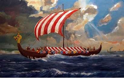 Viking Ship Vikings Painting Artist Ships Famous