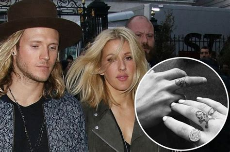 Ellie Goulding and Dougie Poynter get matching tattoos in ...