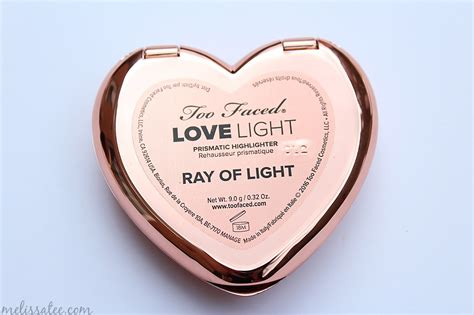 too faced ray of the blushing introvert too faced love light prismatic
