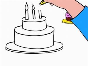 Dessin Gateau Anniversaire : anniversaire24 comment dessiner un gateau d anniversaire ~ Melissatoandfro.com Idées de Décoration