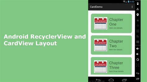 android recyclerview  cardview layout youtube