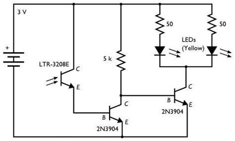 photodiode light detector circuit photodiode with transistor