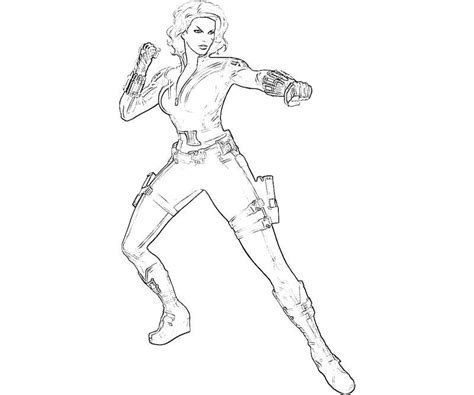 Coloring Pages Black Widow by Black Widow Character Yumiko Fujiwara