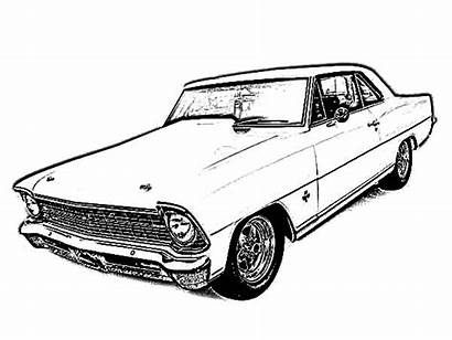 Coloring Pages Chevy Cars Antique Classic Chevelle