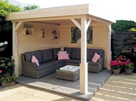 flat roof gazebos archives keops interlock log cabins