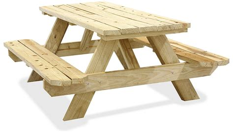 wood picnic tables wooden picnic tables  stock uline