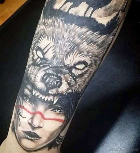 Superb Alpha Wolf Tattoos For Men