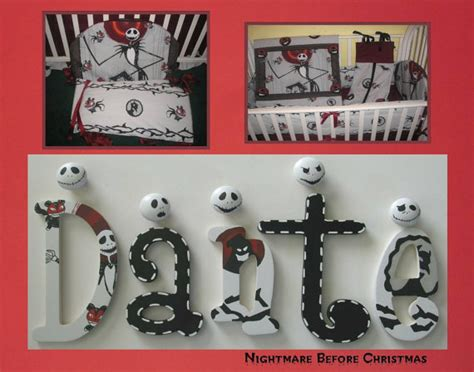 nightmare  christmas jack skellington painted letters