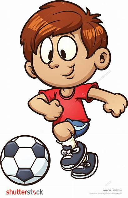 Soccer Playing Clipart Football Clip Player Kid