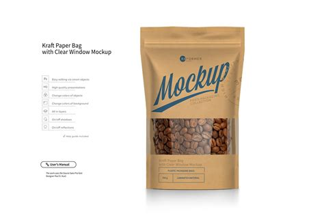 See more ideas about mockup, pouch, mockup free psd. Kraft Paper Bag Stand up Pouch Doypack with Clear Window ...