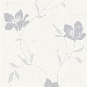 Fine Decor Mischa Floral Wallpaper Stone / Silver (FD40724 ...