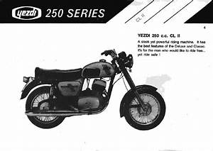 Rare Motorcycle  Yezdi 250cc All Series Manual