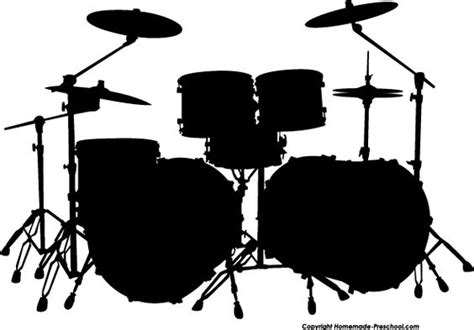 drum stencil template free silhouette clipart drum set art ed linoldruck