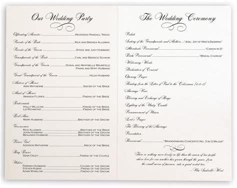 Vintage Wedding Programs | Wedding Ceremony Programs & Wedding Church Program - Documents and ...