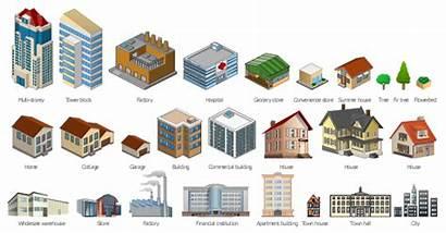 Buildings Vector Building Clip Clipart Elements Multi