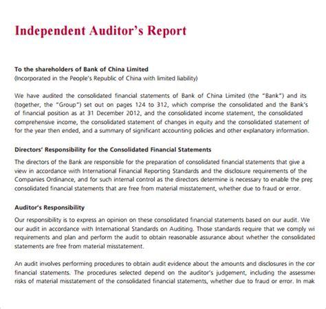 audit report template 10 sle audit report templates sle templates