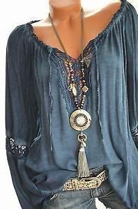 Boho Style Kaufen : italy h kel tunika carmen h kelspitze hippie boho bluse 36 38 40 42 blau neu t rkis ~ Orissabook.com Haus und Dekorationen