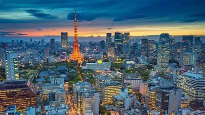 Tokyo Bing Skyline Japan Sunset Wallpapers Cityscape