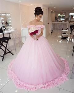 Pink wedding dress princess wedding dress elegant for Soft pink wedding dress