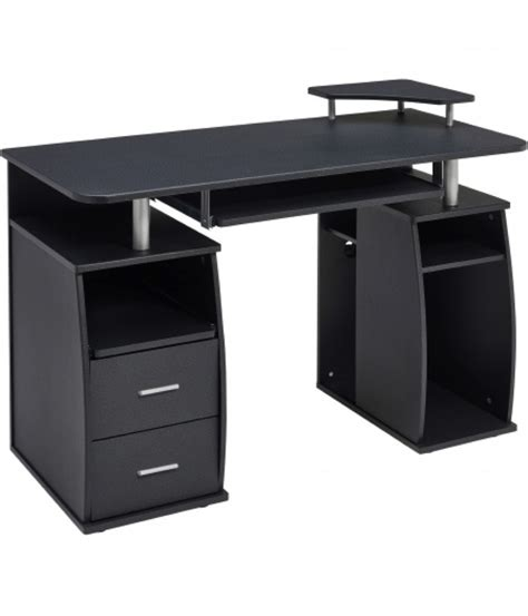 black desk with storage the best office black and white we heart nails
