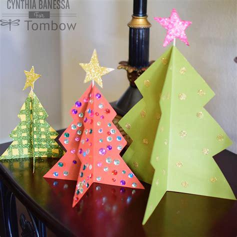 paper craft christmas tree tombow usa blog