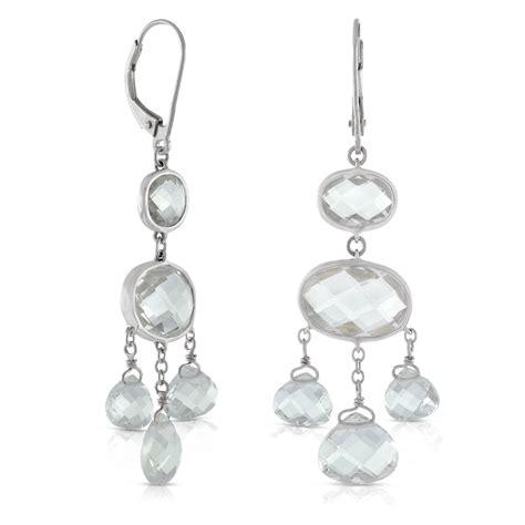 Topaz Chandelier Earrings by White Topaz Chandelier Earrings 14k Ben Bridge Jeweler