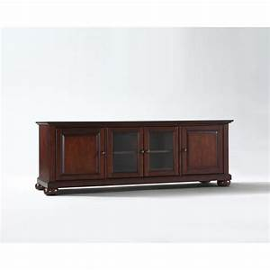 "Alexandria 60"" Low Profile TV Stand in Vintage Mahogany Finish"