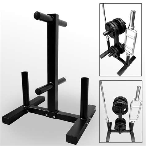 bodyrip  standard   olympic weight disc plate  barbell bar rack stand tree storage