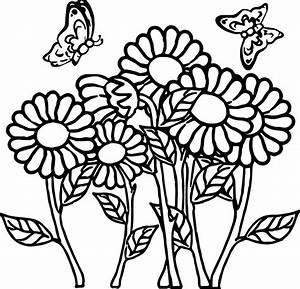 Flowers And Butterflies Coloring Pages Printable Images ...