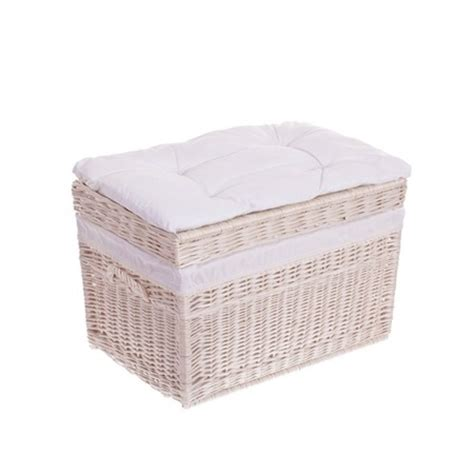 shabby chic storage baskets white wash shabby chic wicker storage basket picnic baskets white collection tytuł sklepu