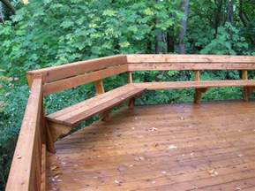 Building A Deck Bench by Deck Benches Deck Benches Plans Indoor And Outdoor