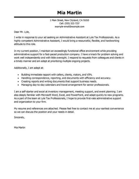 Cover Letter For An Administrator by 25 Office Assistant Cover Letter Office Assistant Cover
