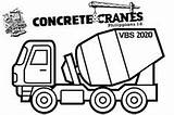 Coloring Digger Moving Craft Parts Cranes Concrete sketch template