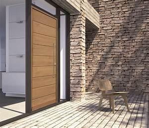 Porte D Entrée En Bois Moderne : portes d 39 entr e bois ternois fermetures ~ Nature-et-papiers.com Idées de Décoration