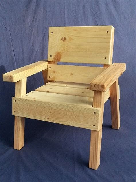 diy project kids solid wood chair toddler boy  girl