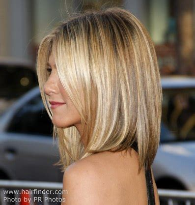 jennifer aniston wearing  hair short  angled