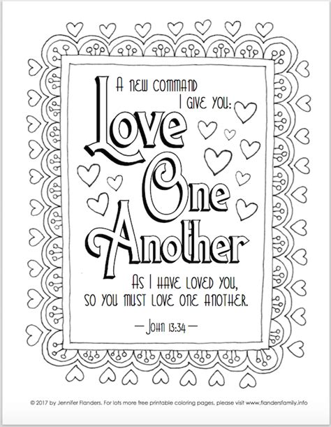 valentines coloring pages flanders family homelife