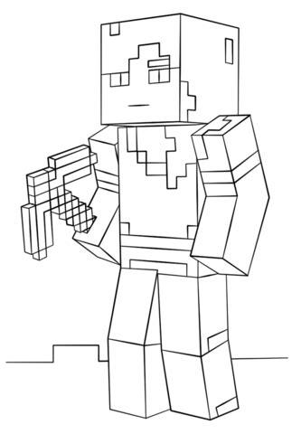 disegno  alex  minecraft da colorare disegni da colorare  stampare gratis