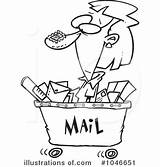 Postal Worker Template Mail Clipart Illustration Templates sketch template