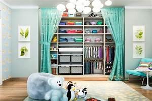 Dressing Chambre Enfant : 26 belles suggestions d 39 am nagement dressing une solutions optimale ~ Teatrodelosmanantiales.com Idées de Décoration