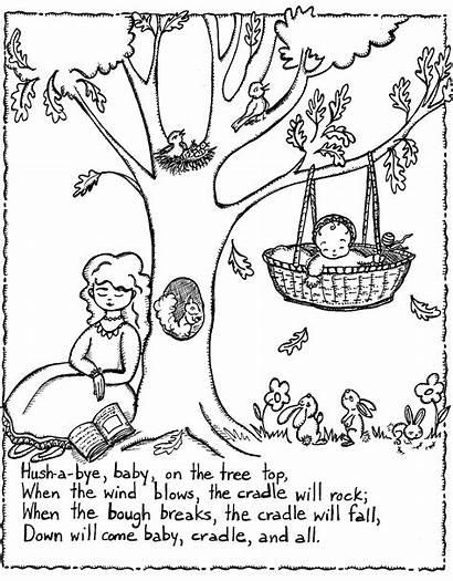 Nursery Rhymes Coloring Pages Printable