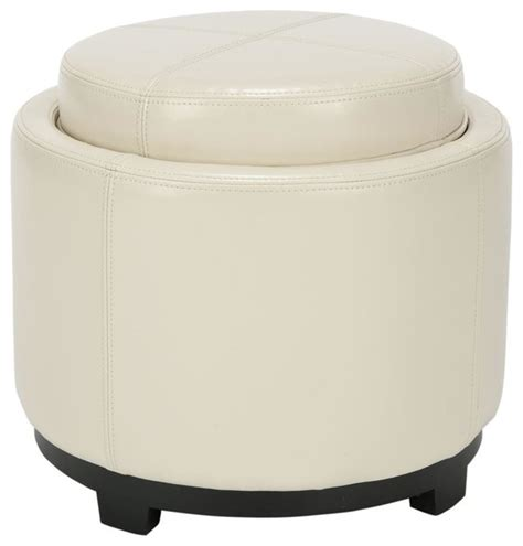 round storage ottoman with tray single tray round ottoman with storage contemporary